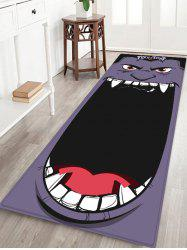 Halloween Monster Printed Floor Rug -