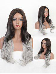 Center Part Gradient Big Wavy Long Gothic Synthetic Wig -