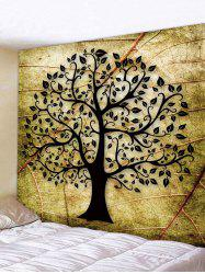 Vintage Tree Leaf Pattern Print Tapestry -
