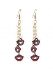 Halloween Chain Tassel Hook Earrings -