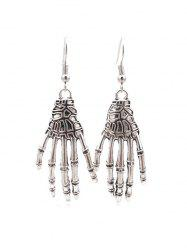 Halloween Skeleton Hand Hook Earrings -
