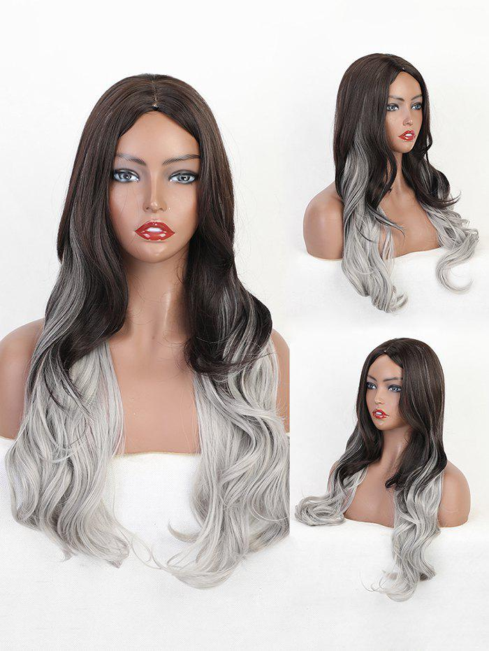 Chic Center Part Gradient Big Wavy Long Gothic Synthetic Wig