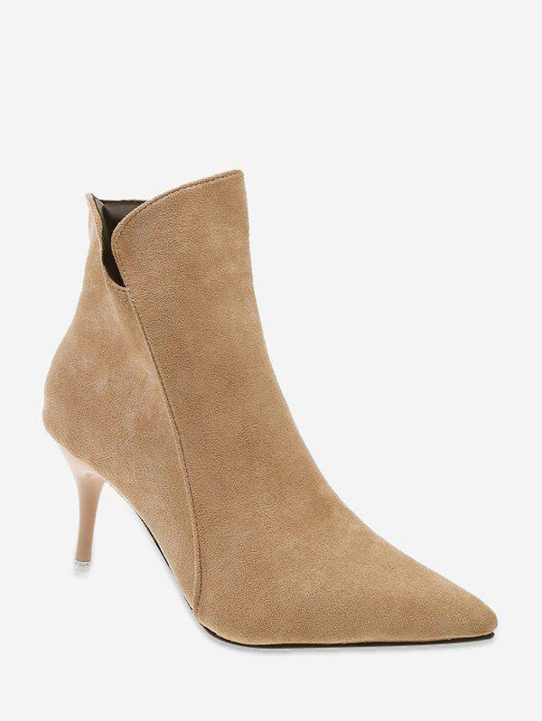 Latest Plain Suede Mid Heel Ankle Boots