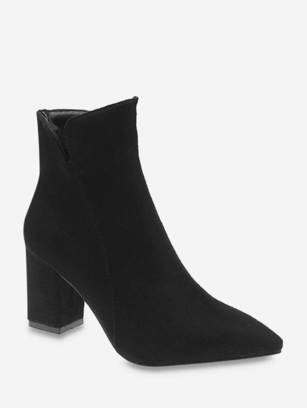 Latest Pointed Toe Mid Heel Suede Boots