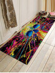 Halloween Abstract Skull Printed Floor Rug -