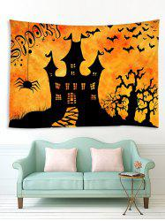 Halloween Night Castle Print Tapestry Wall Hanging Art Decoration -