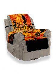 Halloween Pumpkin Witch Ghost Design Couch Cover -