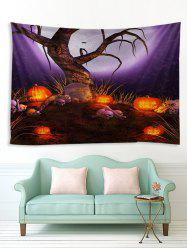 Halloween Moon Night Tree Print Tapestry Wall Hanging Art Decoration -