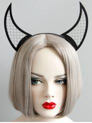 Halloween Devil Horns Net Hairband -