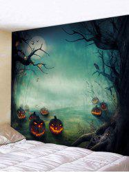 Halloween Night Pumpkins Print Tapestry Wall Hanging Art Decoration -