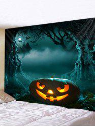 3D Digital Print Halloween Pumpkin Waterproof Wall Tapestry -