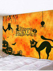 Halloween Cartoon Animals Print Tapestry Wall Hanging Art Decoration -
