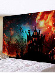 3D Digital Print Halloween Sky Waterproof Wall Tapestry -
