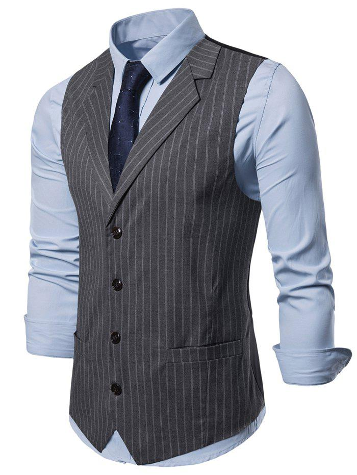 Shop Striped Printed Single-breasted Waistcoat