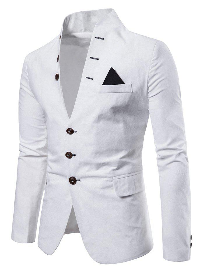 Hot Color Spliced Button Long Sleeves Blazer