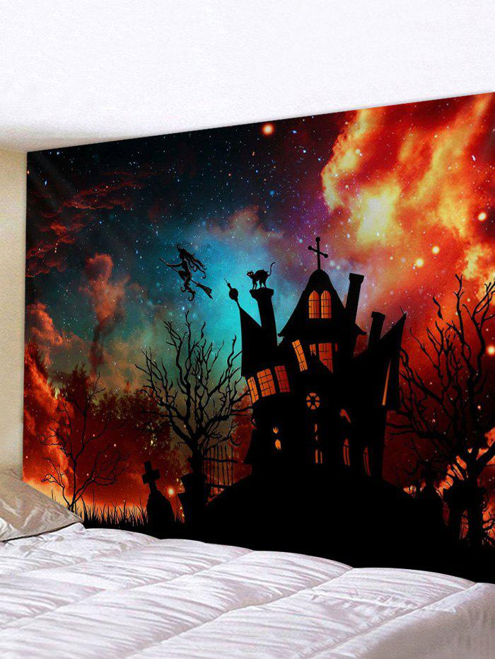 Discount 3D Digital Print Halloween Sky Waterproof Wall Tapestry