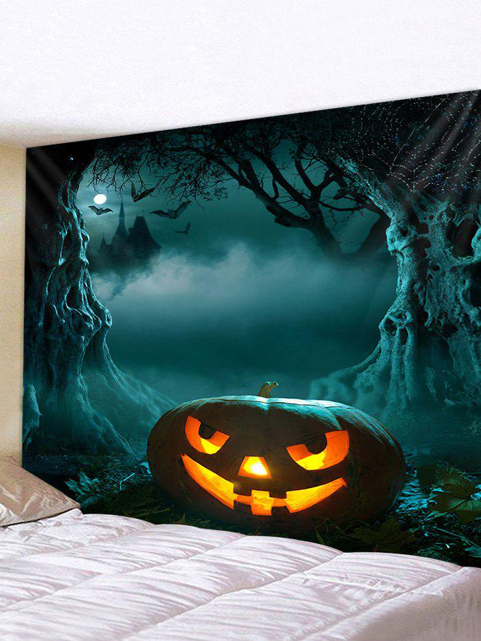 Sale 3D Digital Print Halloween Pumpkin Waterproof Wall Tapestry