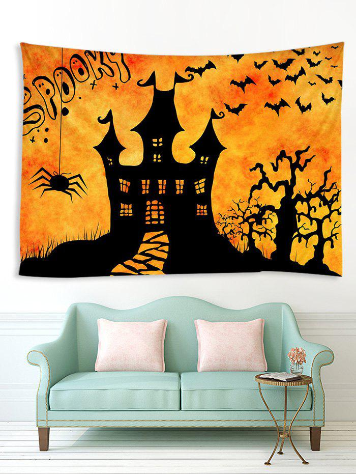 Best Halloween Night Castle Print Tapestry Wall Hanging Art Decoration