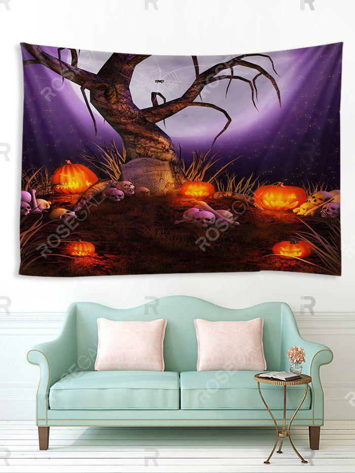 New Halloween Moon Night Tree Print Tapestry Wall Hanging Art Decoration