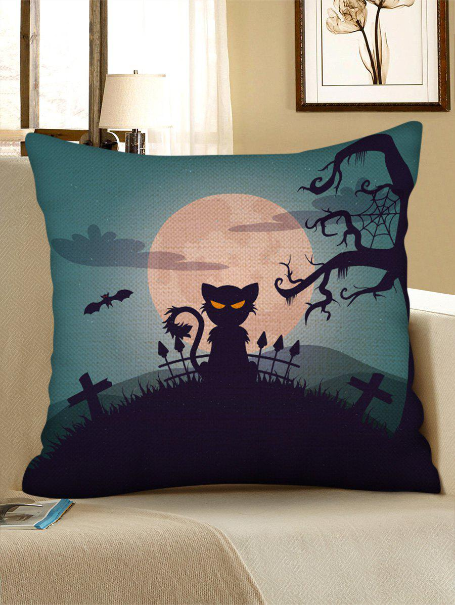 Sale Halloween Moon Night Animal Print Decorative Pillowcase