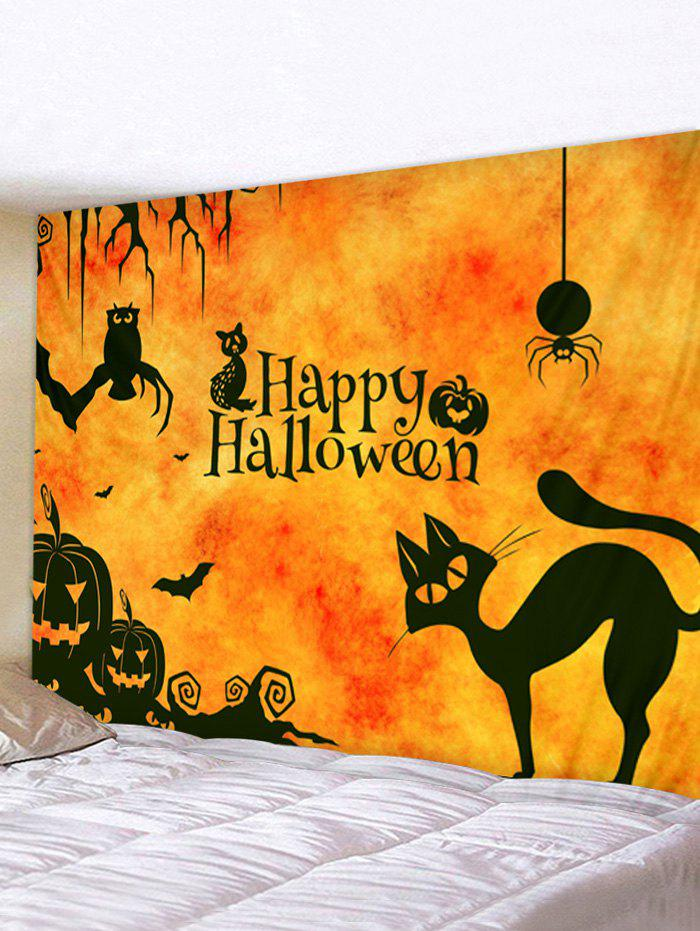 Cheap Halloween Cartoon Animals Print Tapestry Wall Hanging Art Decoration