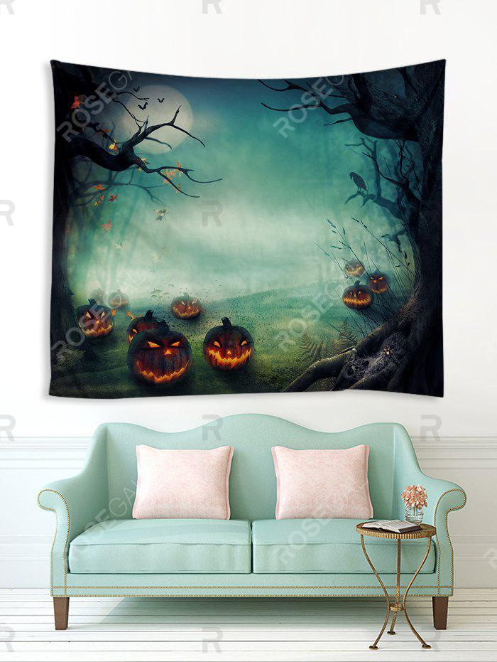 Outfit Halloween Night Pumpkins Print Tapestry Wall Hanging Art Decoration