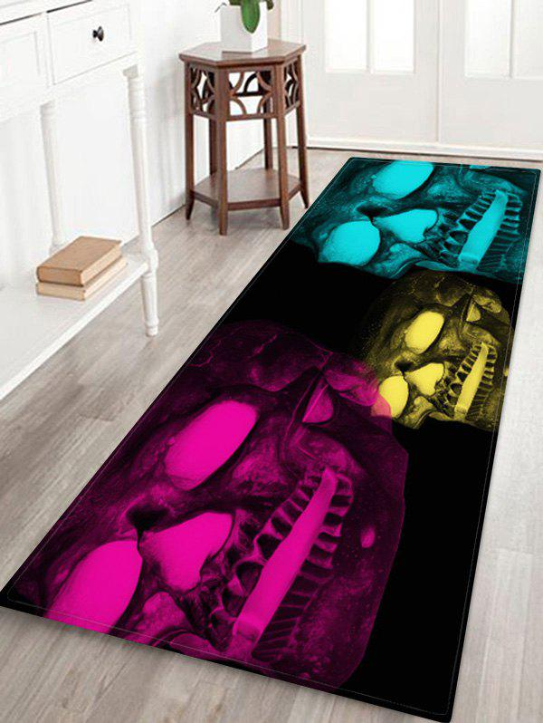 Shops Halloween Glow Skull 3D Pattern Floor Rug