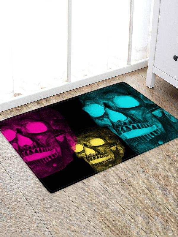 Affordable Halloween Glow Skull 3D Pattern Floor Rug