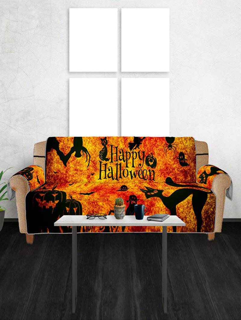 Halloween Pumpkin Witch Ghost Design Couch Cover