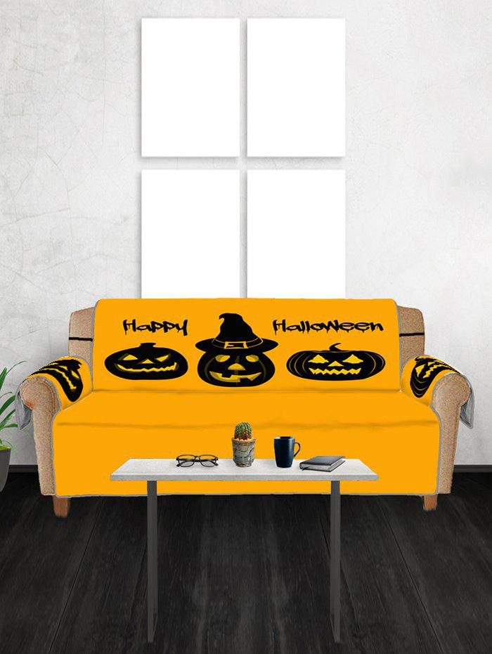 Outfit Halloween Pumpkin Design Couch Cover