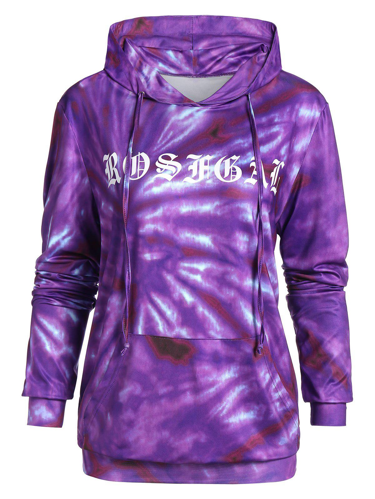 Buy Plus Size Printed Long Sleeve Pocket Hoodie