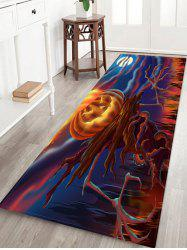 Halloween Pumpkin Branch Cartoon Print Floor Rug -