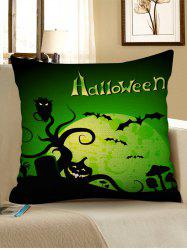 Halloween Night Cemetery Print Decorative Pillowcase -