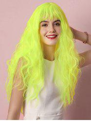 Cosplay Halloween Fluorescent Long Curly See-through Synthetic Wig -