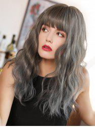 Neat Bang Gradient Long Wave Synthetic Wig -
