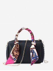 Litchi Grain Chain Strap Crossbody Bag -