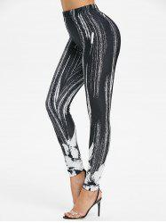 Printed High Rise Skinny Leggings -
