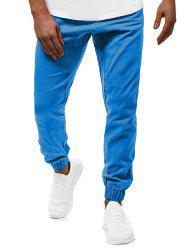 Contrast Drawstring Pockets Casual Jogger Pants -