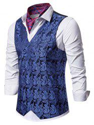 Paisley Jacquard Double Breasted Business Vest -