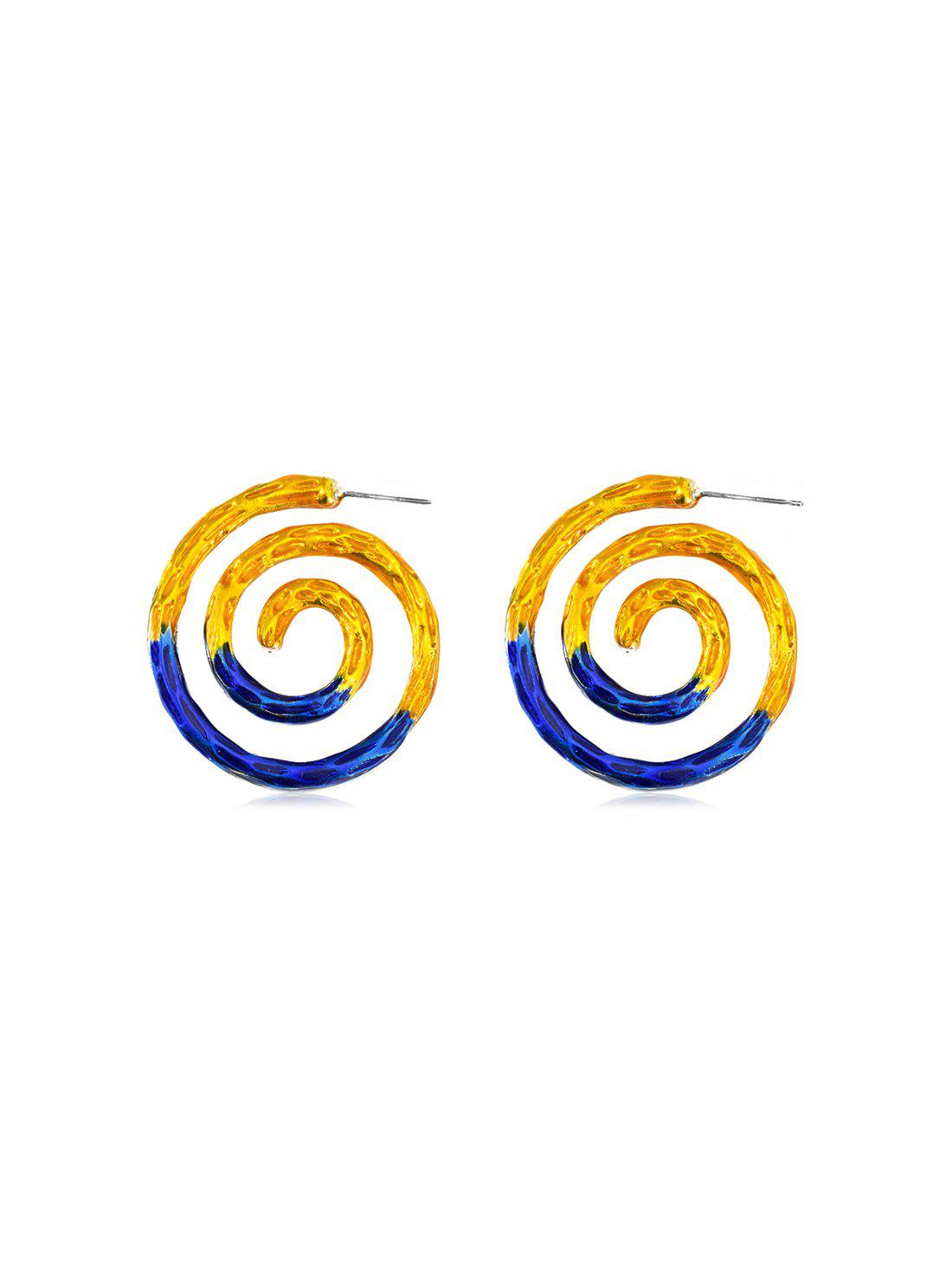 Latest Alloy Two Tone Spiral Earrings