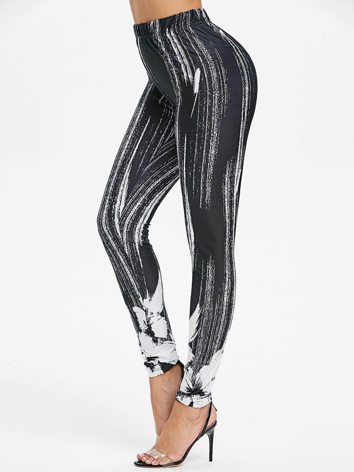 Online Printed High Rise Skinny Leggings