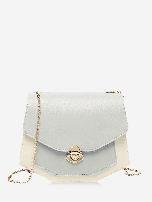 Chic Color Block Chain Strap Crossbody Bag