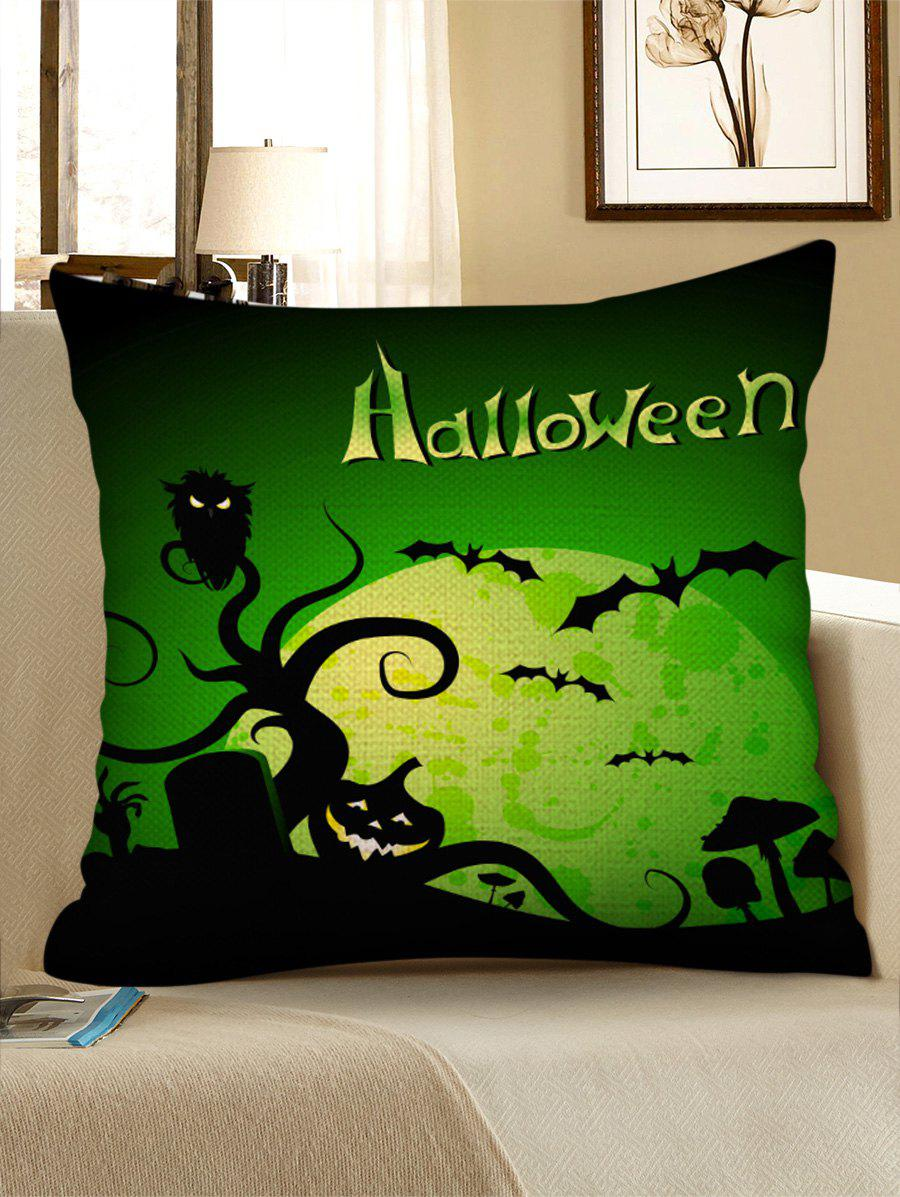 Outfit Halloween Night Cemetery Print Decorative Pillowcase