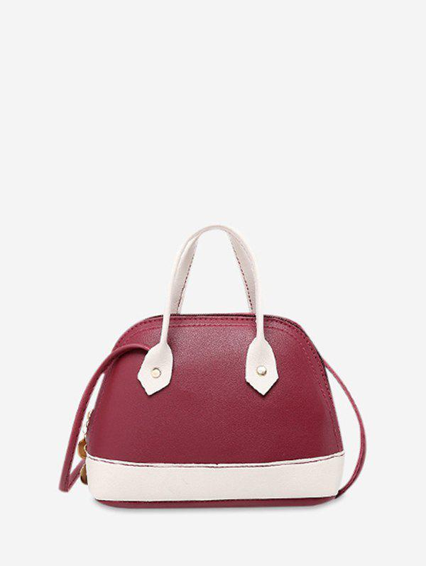 Outfit Shell Shape Striped Crossbody Bag