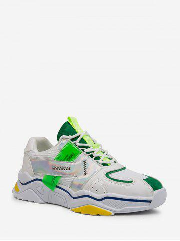 Laser Trim Breathable Dad Sneakers