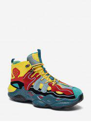 Color Block Breathable Basketball Sneakers -