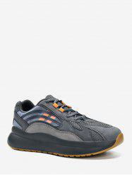Striped Accent Mesh Trim Outdoor Sneakers -