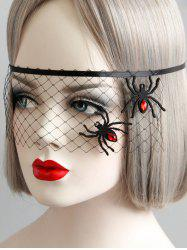 Gothic Halloween Mesh Spider Eye Mask -