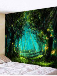 Halloween Night Forest Print Tapestry Wall Hanging Art Decoration -