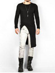 Punk Solid Color Long Sleeves T-shirt -